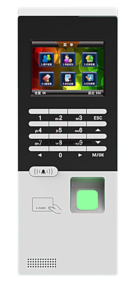 TCP/IP联网指纹刷卡门禁机一体机